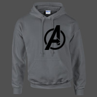 Avengers Symbol  - HeavyBlend™ adult hooded sweatshirt